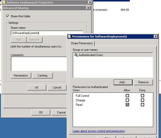 Define NTFS permissions