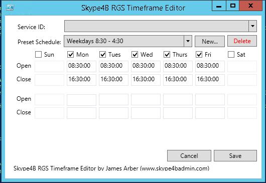 Response Group Timeframe Editor Powershell GUI   Skype for Business News