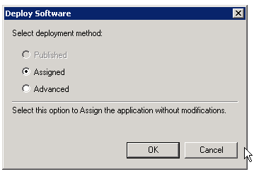 Select Deployment Method